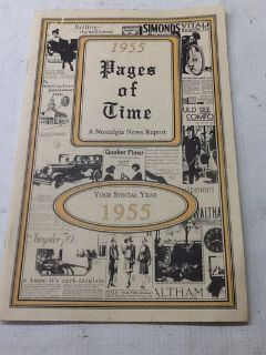 1955 Pages of Time A Nostaligia New Report