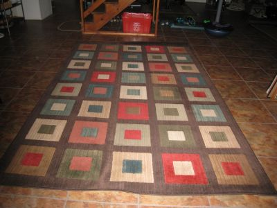 """Large Clean 78"""" by 120"""" Area Rug"""