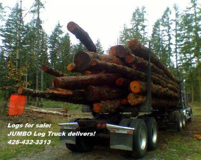 FIREWOOD Logs for Sale! Self Loader Log Truck or Dump Truck Washington