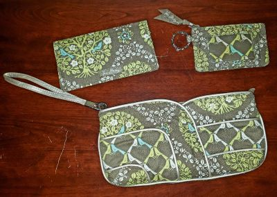 Vera Bradley hand clutch, coin/card holder and checkbook cover