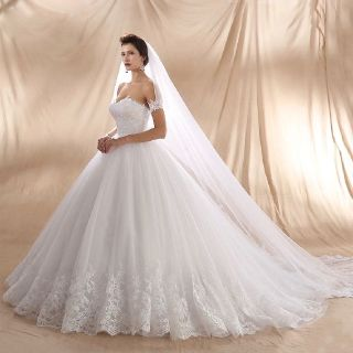 Helena's A Line Lace Strapless Wedding Gown