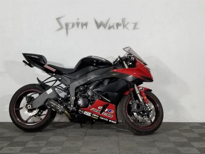 2011 Kawasaki Ninja ZX6r Sportbike (Red)