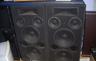 Carvin 1588A PA Speakers 900 watts each W/ Yamaha Mixer