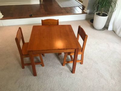 Child s table & 3 chairs