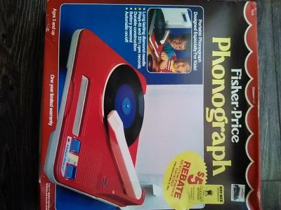 FISHER PRICE PHONOGRAPH, CHILDS