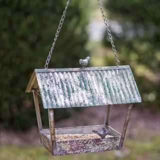 Mothers Day Gift! Brand New! Very Large Tin/Metal Rustic Bird Feeder