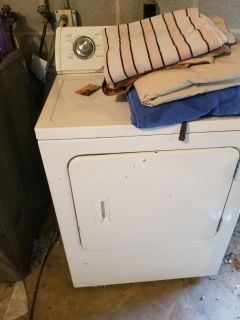 Electric dryer works great moved an had to get stackable