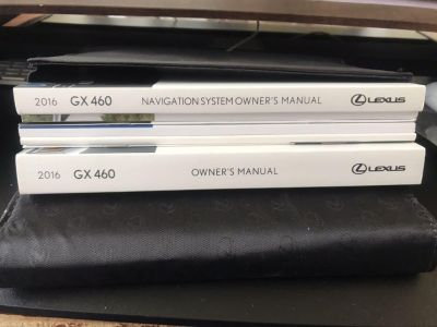 Lexus GX460 Owners Manual and Case