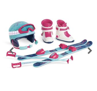 AG American girl doll retired ski set still wrapped in plastic retail was $68 swipe for more pics $30