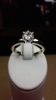 40 point solitaire 14kt Diamond engagement ring