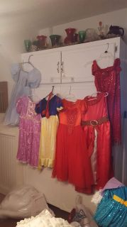 SOLD AS A LOT..6 dresses...Girls custom made dress up clothes sz 6 to 8