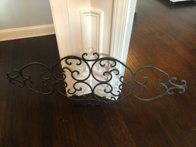 Decorative wrought iron piece