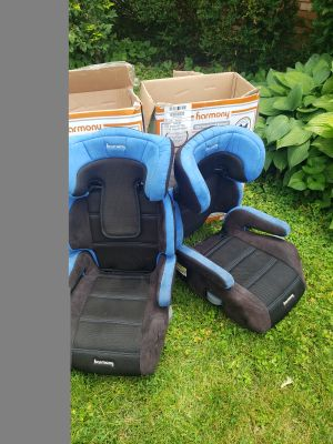 PAIR of Harmony high back booster seat car seats Excellent