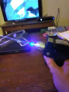 """Star Trek"" TOS phaser's modified with 2W blue laser"