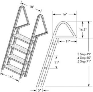 Find Tie Down Engineering 28273 DOCK LADDER GALV. 3 STEP motorcycle in Stuart, Florida, US, for US $143.09