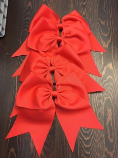 New cheer bow with pony tail back