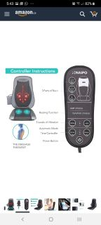 HEATED BACK MASSAGER WITH KNEADING & CHAIR CUSHION BNIB