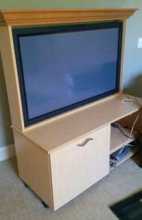 """50"""" HDTV & Custom Cabinet"""