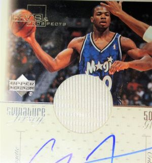 SIGNED 2000 Corey Maggette Jersey Game Worn Orlando Magic #50 Basketball Card