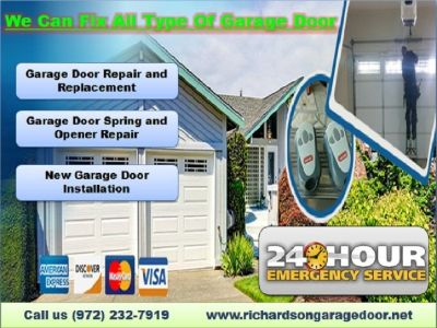 #1 Garage Door Repair, Spring Repair & New Installation $25.95 | Richardson, 75081 TX