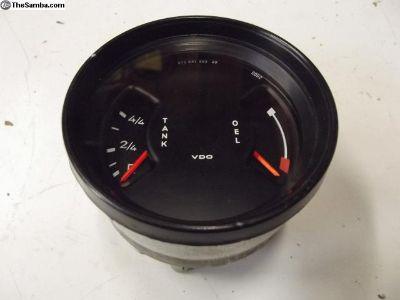 Porsche 911 VDO Oil and Fuel Gauge