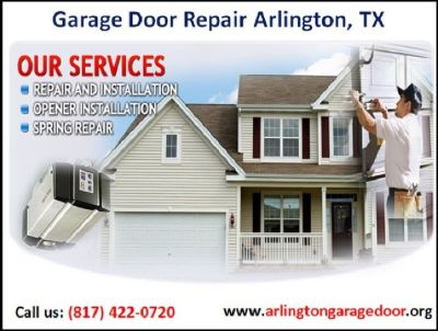 A+ Rated | Garage Door Spring Repair & Replacement ($25.95) Arlington, TX