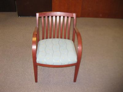$125, side chair green fabric