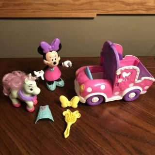 Minnie Mouse dress up, car and pony