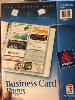 Business card pages