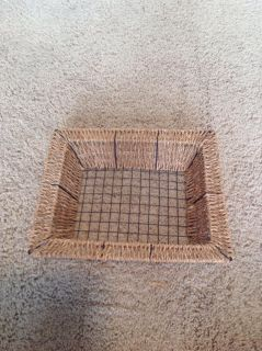 Wicker and wire basket