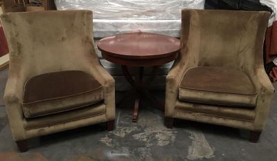 Arm Chairs + Cocktail Table (lovely set)