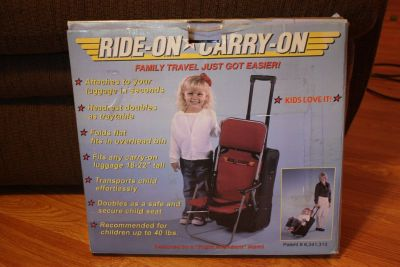 Ride on Carry on Child travel seat that attaches to your luggage NEW