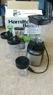 Hamilton Beach Stay or Go Blender, excellent used condition