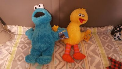 Cookie monster and big bird BRAND NEW