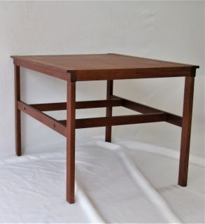 Charming Mid Century Modern Swedish Teak End Table