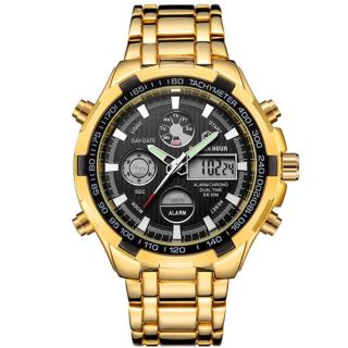Brand new dual time man's sports watch quartz local pickup or shipping