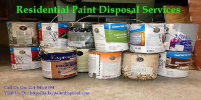 Residential Paint Disposal Dallas, Tx | Dallas Paint Disposal