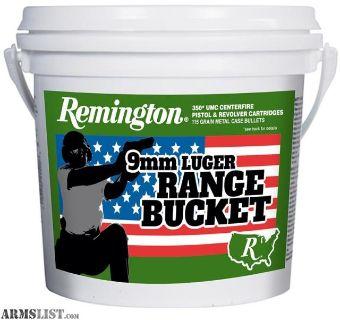 For Sale: 9mm 350 Count Range Bucket Sealed