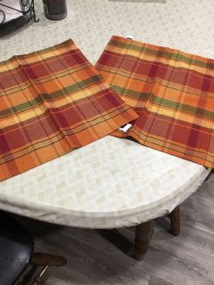 Beautiful harvest colored 18 x18-3/4 mats to use with decor