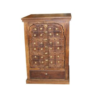 Antique Indian Doors Small Cabinet