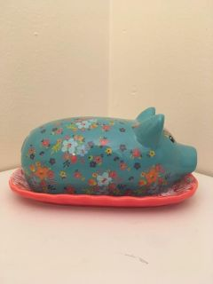 Pig Themed Butter Dish by Gibson Everyday