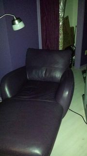 $150, Leather Chaise Lounge