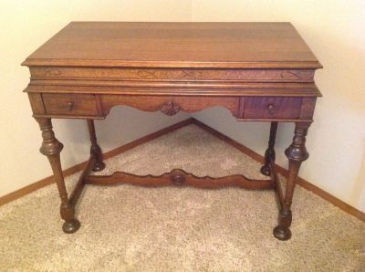 Antique secretary desk.