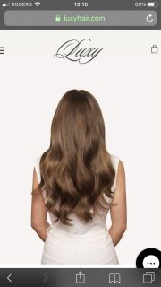 100% Luxy human hair clip in extensions . Chestnut brown. 18 inch.