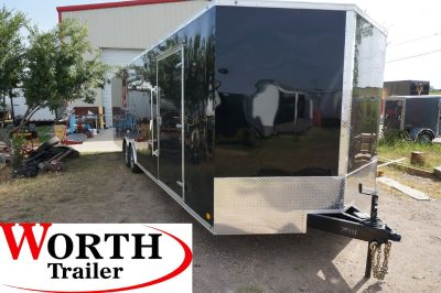 8.5 X 28' ENCLOSED SCREWLESS TRAILER