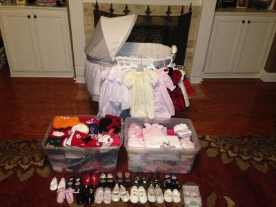 HUGE Lot of Baby Girl Clothes NB 0-3 Mos.