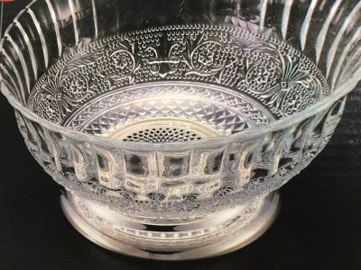 SILVER FOOTED SERVING BOWL BY FOREVER SILVER.