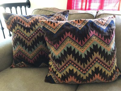 Pottery Barn Oversized Throw Pillows