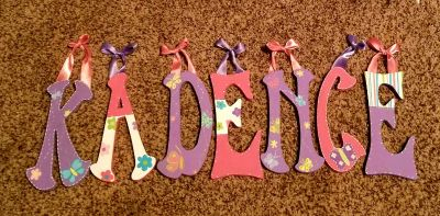 Wooden letters for a 'KADENCE'