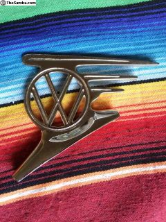 """Flying Vw"" hood emblem, OG"